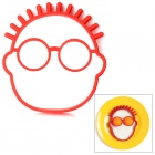 Creative Clown Face Style Silicone Egg Baking Mould Tool - Red