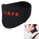 Self-Heating Neck Heat Therapy Support Belt Wrap Brace - Black