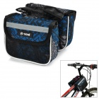 DIY Mountains Bicycle Pipe Tube Bag - Black + Blue + Multi-colored