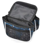 B-SOUL YA039 Bicycle Top Tube Saddle Double Bag - Black + Multicolor