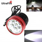 UltraFire 7-LED 3-Mode 5500lm White Light Bike Light / Headlamp - Black (4 x 18650)