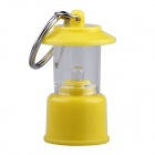 Handy Portable White Light LED Tent Lamp Keychain for Camping - Yellow (3 x AG3)