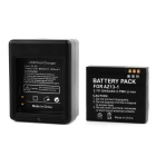 PANNOVO Dual-Slot Battery Charger + 1-1010 mAh Li-ion Battery for XIAOMI Xiaoyi Camera - Black