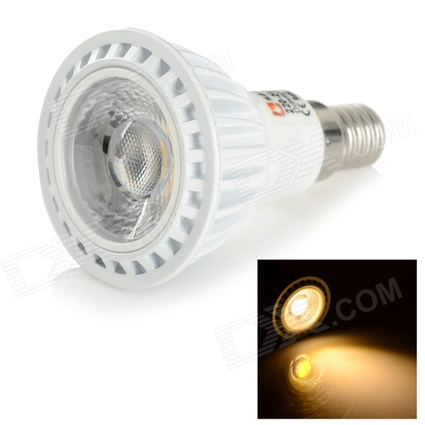 LeXing Lighting Dimmable E14 6W COB 350lm Warm White Bulb (220~240V)