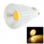 LeXing Lighting GU10 8W COB LED Spotlight Warm White 3500K 540lm - White + Yellow (AC 85~265V)