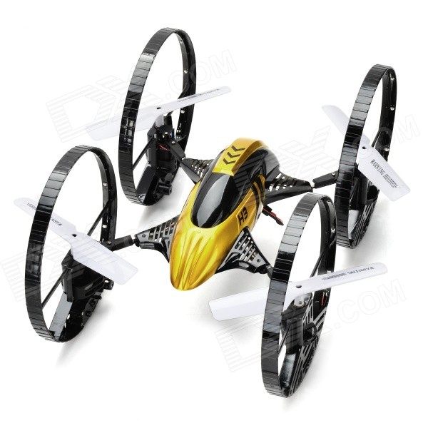 JJRC H3 2-Mode 2.4GHz 4-Ch R/C Quadcopter w/Gyro/Camera - Black + Gold