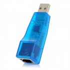 USB 2.0 to RJ45 10/100Mbps Ethernet LAN Network Adapter - Blue + Transparent