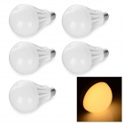E27 6.5W 400LM 3000K Warm White 18 SMD 5730 LED RC Voltage de redução Bulb Lamp (AC 220V, 5 PCS)