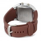Glow-in-the-Dark Silicone Band Quartz Analog Watch - Brown (1* CR2025)