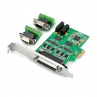 IOCREST IO-PCE352-PR2S PCI-E 2-Port RS422/485 Industrial Serial Port Card - Green