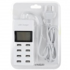 US Plugs USB 2.0 8-Port Power Charger for IPHONE + More - White