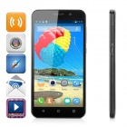 "4X MT6582 1.3GHz Android 4.4 Quadcore-Phone 3G w / 5,5 ""IPS, 4GB ROM, 4.97MP + 0.3MP - Schwarz"