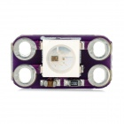WS2812B RGB LED 4-Pin Driver Board Module - Purple + White