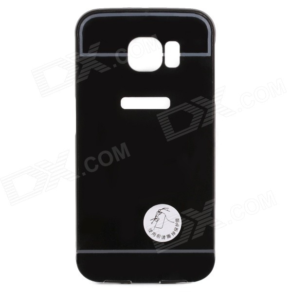 2-in-1 Detachable Back Case for Samsung Galaxy S6 Edge - Black