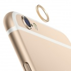 TPU Back Case + Lens Guard Ring Sticker for IPHONE6 - Golden
