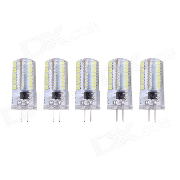 G4 4W 6000K 400lm SMD 3014 White Lamp (200~240V / 5PCS)