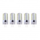 G4 4W LED Lamps White Light 6000K 400lm SMD 3014 - White + Transparent (AC 200~240V / 5 PCS)