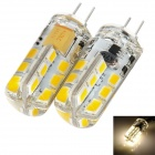 exLED G4 12V 3W 3000K 120lm 24-SMD 3528 LED Warm White Light Bulb (2 PCS)
