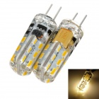 exLED G4 1.5W 3000K 90lm 24-SMD 3014 LED Warm White Light Bulb (DC / AC 12V)