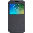 NILLKIN Protective Flip-Open PU + PC Case Cover w/ View Window for Samsung Galaxy E5 - Black