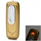 Creative USB Powered Windproof Electronic Lighter - Gold