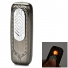 Creative USB Powered Windproof Electronic Lighter - Silvery Grey