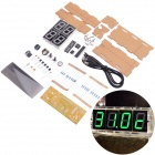 NEJE DIY Large Screen 4-Digit Green LED Electronic Clock Kit - Multi-Colored