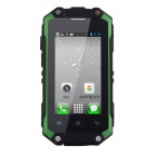 "J5 Waterproof Android 4.2 Dual Core MT6572 WCDMA Rugged Phone w/ 2.4"", 3.0MP,Wi-Fi - Black + Green"