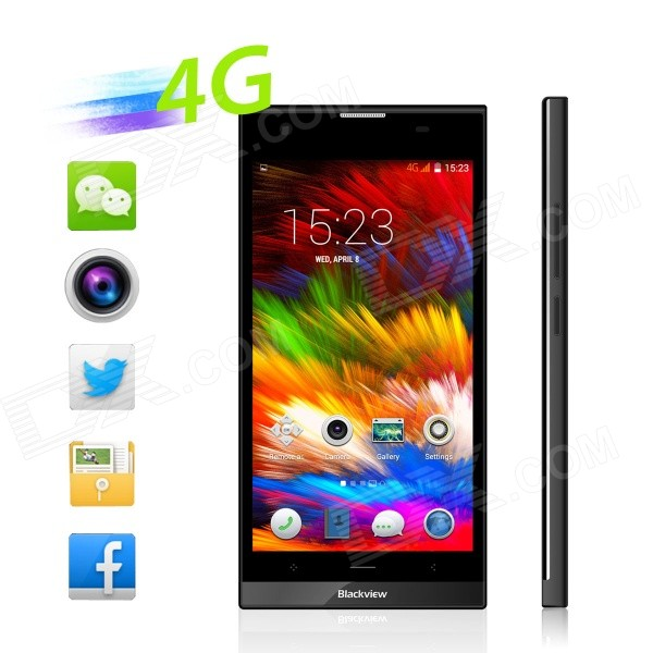 blackview Alife S1 android 4.4 4G telefon m / 2GB ram, 16GB ROM - svart