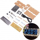 NEJE DIY Large Screen 4-Digit Blue LED Electronic Clock Kit - Multi-Colored