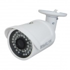 "HOSAFE 1MB2WP Waterproof 1/4"" CMOS 1.0MP 720P ONVIF Bullet IP Camera w/ POE / 36-IR-LED - White"