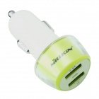 NILLKIN J-CC 5V 1A / 2.4A Universal Dual USB Car Charging Adapter - Green + White