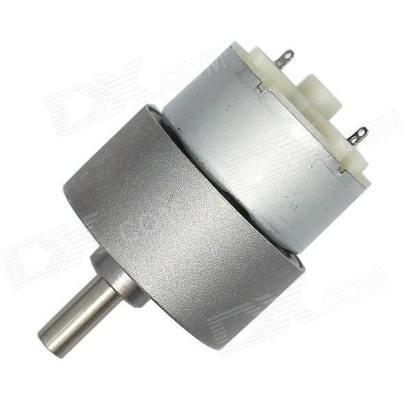 DIY 37mm High Torque Silent 60RPM 12V DC Precision Gear Motor - GreyDIY Parts &amp; Components<br>ModelN/AQuantity1 DX.PCM.Model.AttributeModel.UnitForm  ColorGreyMaterialABS + Cu + Fe + steelChipsetDC driveEnglish Manual / SpecNoOther FeaturesNoCertificationNoPacking List1 x Gear motor<br>