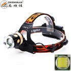 ZHISHUNJIA K128-T6 900lm White 3-Mode LED Memory Headlamp w/ XM-L T6 - Black + Gold (2 x 18650)