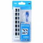 7 Portas USB 3.0 Hub de carro w / Switch + Indicador LED - Branco