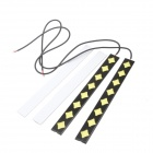 Wired 8W COB 450lm White Car Lamp (12V / 2PCS)