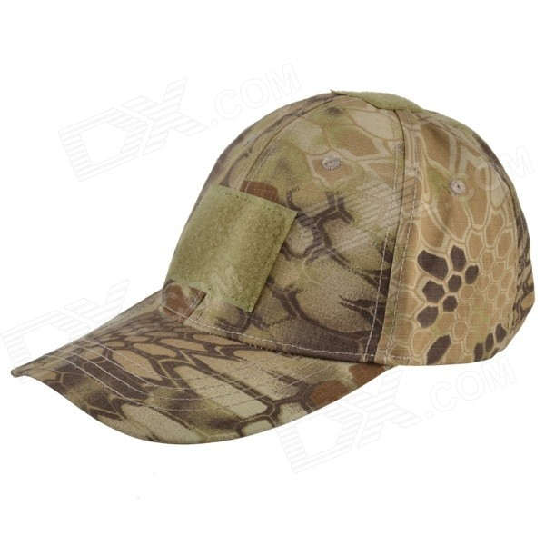 Python Pattern 600D Oxford Baseball Hat - Mud Color + Camouflage