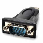 USB 2.0 to RS232 Serial 9-Pin DB9 Adapter Converter - Black
