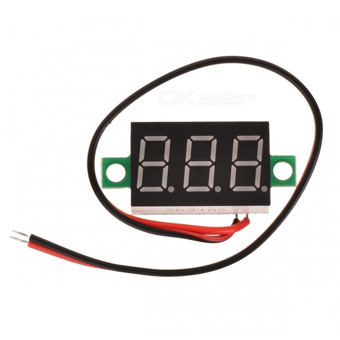 3 dígitos de 2 fios DC 4.5 ~ 30V LED Digital Voltímetro Voltage Display Module
