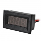 "DIY 0.36"" 3-Digit 3-Wire DC 0~100V Red Light LED Digital Voltmeter Voltage Display Module - Black"
