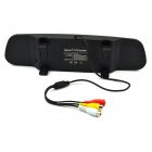 "3.5"" TFT Car Rearview Mirror & Camera + Parking Sensor - Black (12V)"