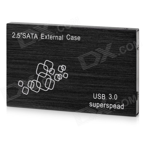 "USB 3.0 Super Speed 2.5"" SATA HDD Enclosure externo caso - preto"