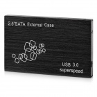 "USB 3.0 Super Speed 2.5"" SATA HDD Enclosure External Case - Black"