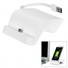 S-Shaped Charging Dock + Data Sync & Charging Cable for Samsung Galaxy S6 - White