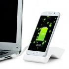 S-Shaped Charging Dock + Charging Cable for Samsung Galaxy S6 - White