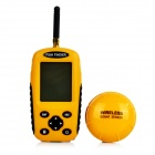 "Portable 2.4"" LCD Wireless Dot-Matrix Sonar Fish Finder Detector - Black + Yellow"