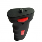 "LED-salama valo Cold Shoe + 1/4 ""Screw Mount Handle Grip - Musta + Punainen"