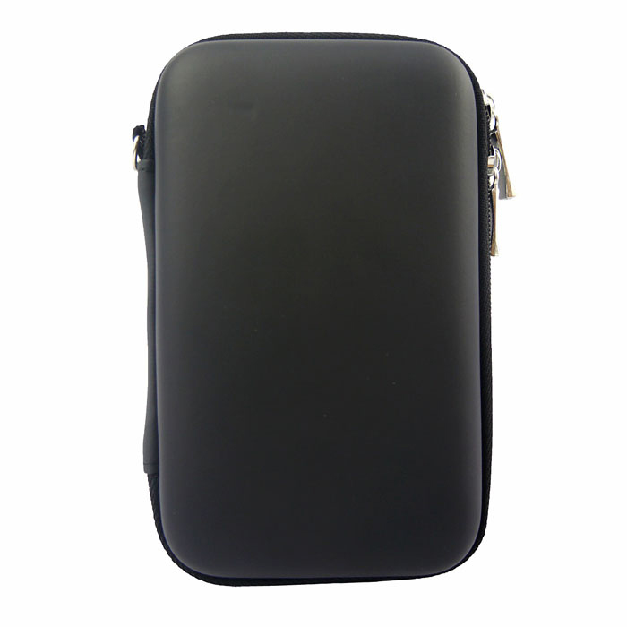 "Hard Shell PU + EVA Pouch for 2.5"" Hard Disk / Power Bank - Black"