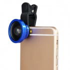 S-What Universal Selfie 0.4X Wide Angle Clip-on Lens w/ Cover for IPHONE / Samsung - Black + Blue