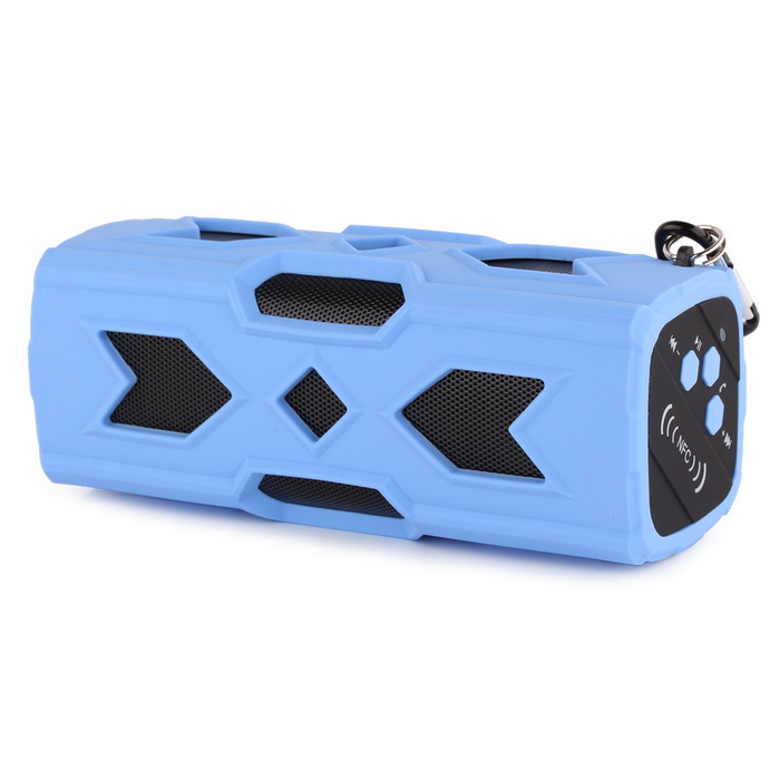 A6 Outdoor Bluetooth NFC Mini Speaker w/ Power Bank for IPHONE - Blue